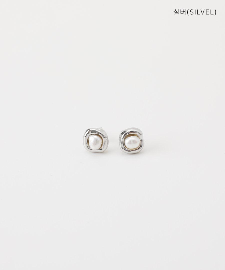 Rose pearl earrings