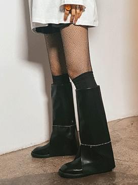 cut layered long boots