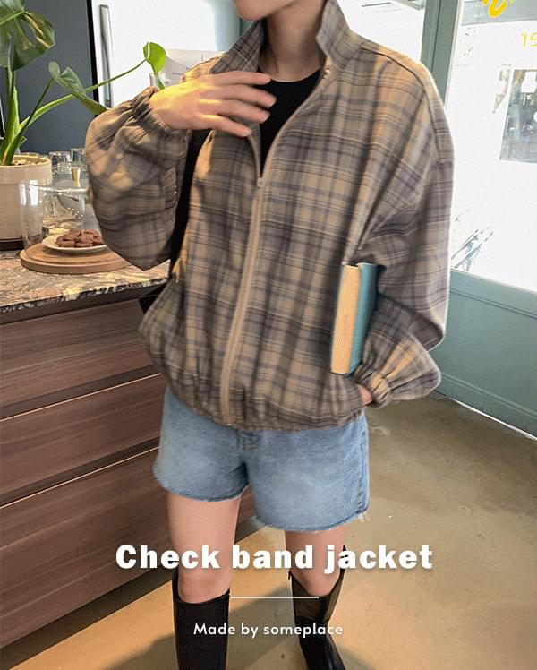 #made some pie check banding Jacket