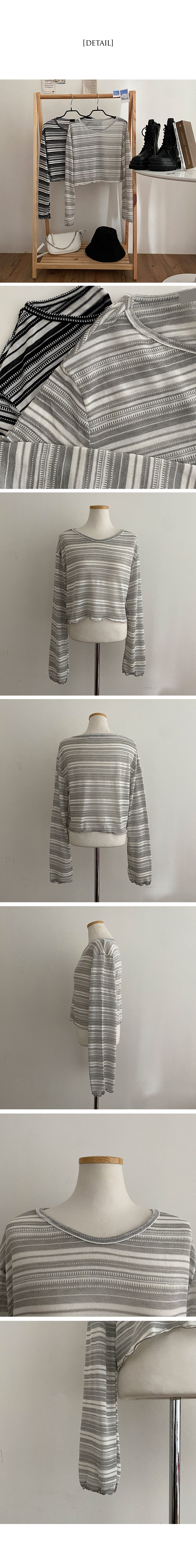 Yudeul Youdle Yuja Stripe Crop T-shirt