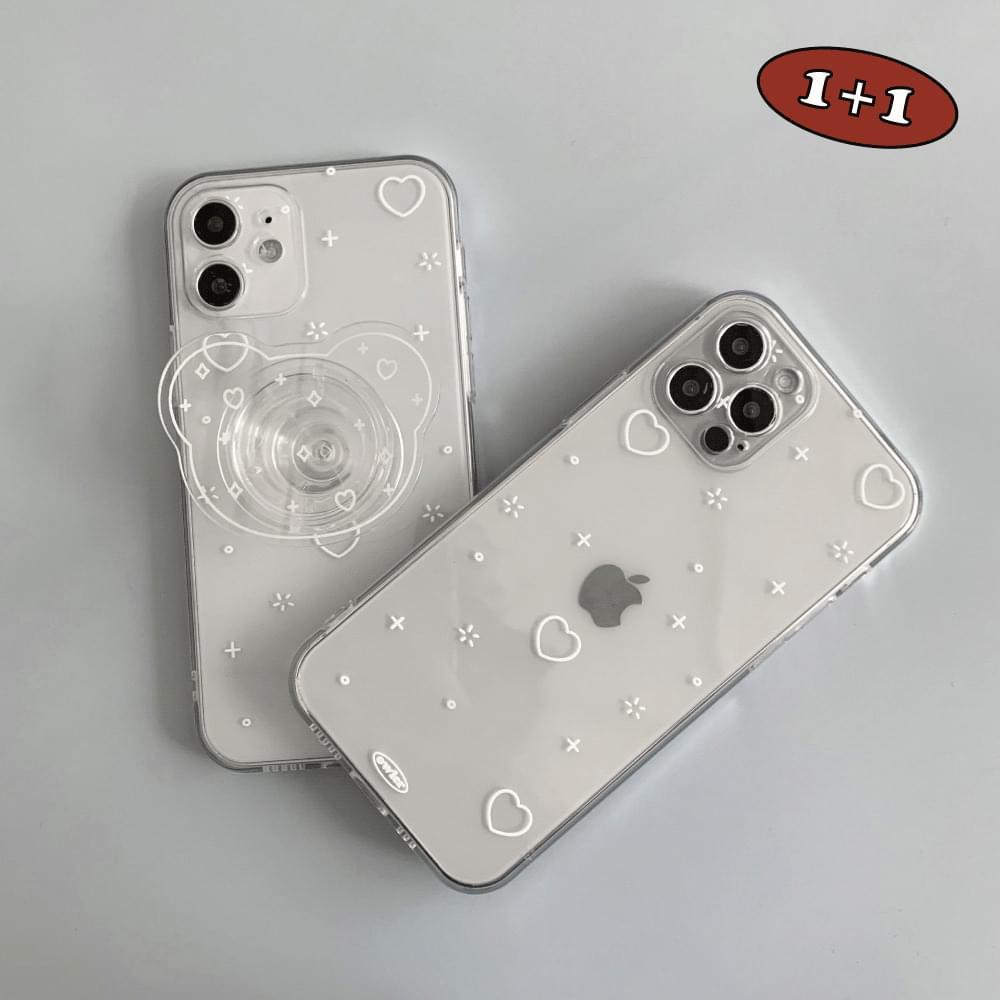 Glitter Heart Simple Pattern iPhone Case