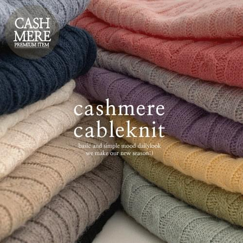 Cashmere Cable Round Knitwear