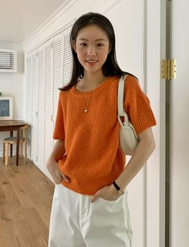 Cozy Alpaca Short Sleeve Knitwear