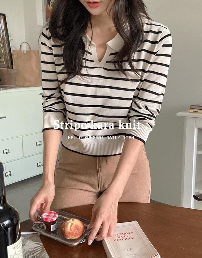 Striped Kara Knitwear
