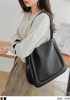 Faux Leather Square Shoulder Bag