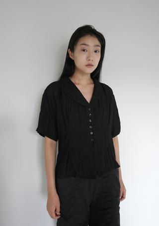 classic mood lapel blouse