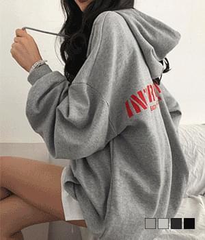International Back Print Wang Overfit Hood