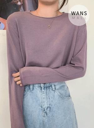 tt5773 Prune Basic Long Sleeve Knitwear