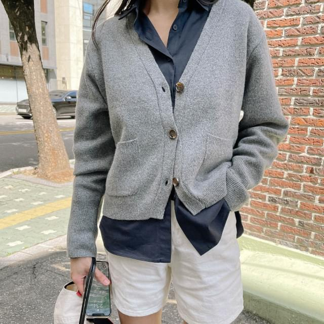 Pudding V-Neck wool cardigan 針織外套