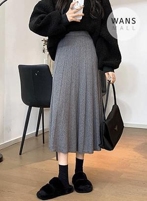sk5831 Turns Pleated Long Skirt