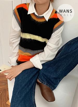 vt5834 Layer Unique Color Matching Knitwear Vest