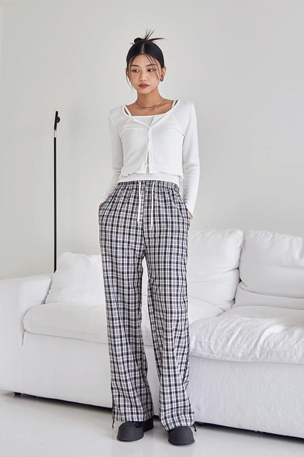 lolly check string pants