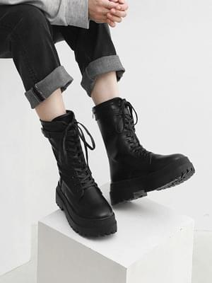 Walker Bottom Lace-up Ankle Walker Whole Heel Boots 11070 ♡ 2nd Sold Out♡