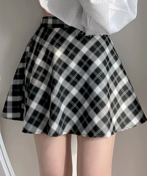 Two You Check Frea Skirt 2color