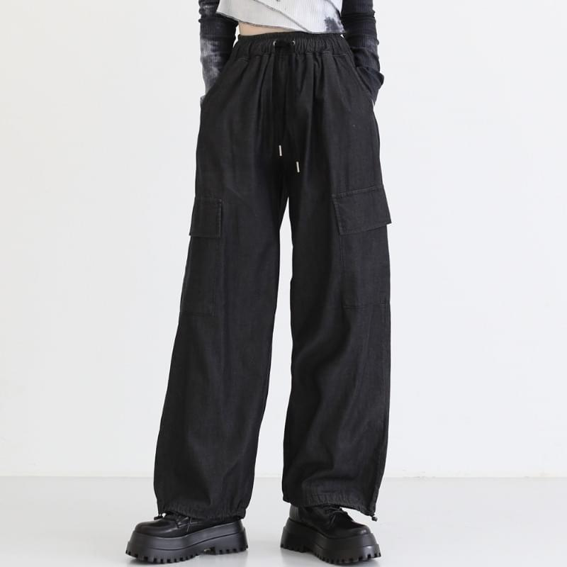 rambo string wide trousers