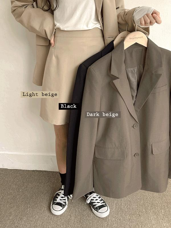 Totally Mine Loose-fit Jacket Back Banding Mini Skirt Set