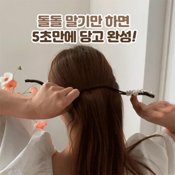Pearl Flower One-Touch Rounded Hair Doldol-Dango Band 3type