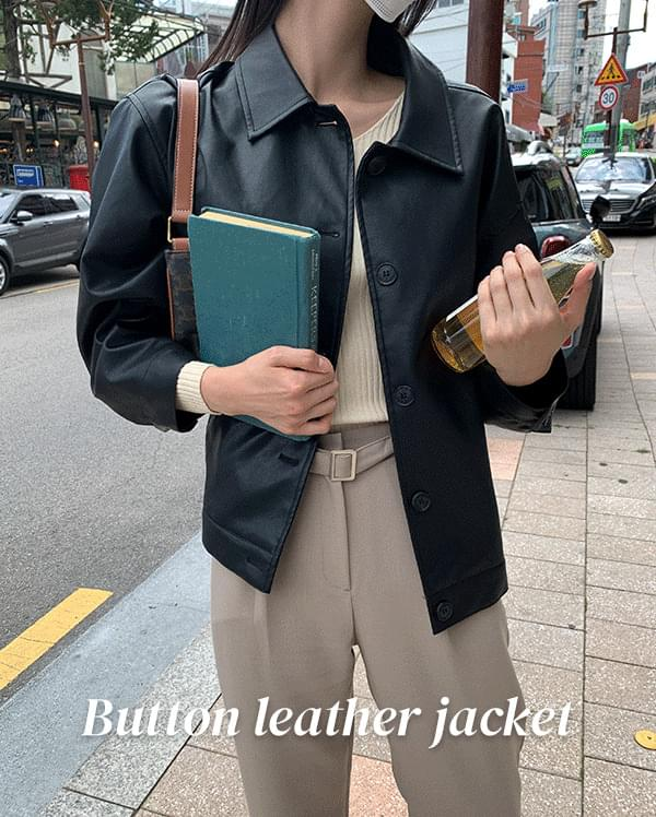 #made some diven button leather jacket