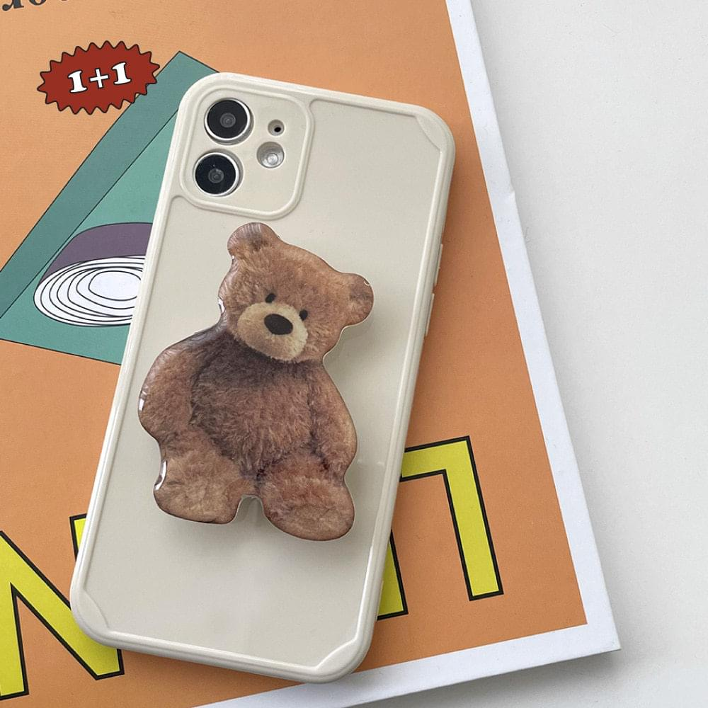 Real Teddy Bear Grip Talk iPhone Case
