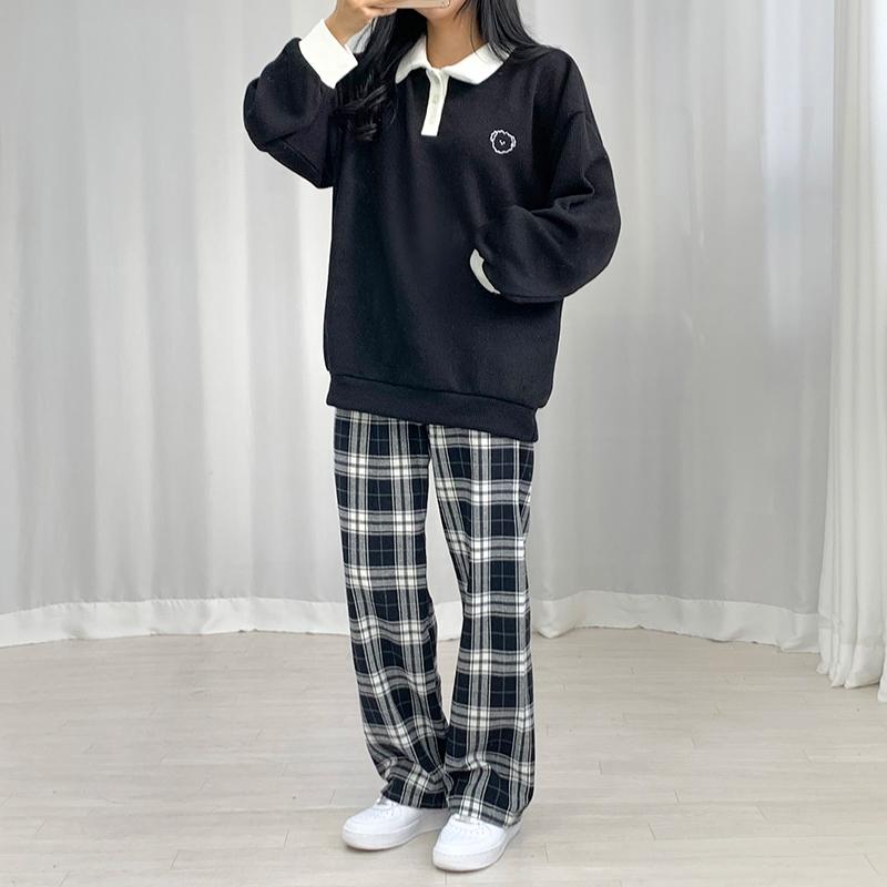긴팔 티셔츠 모델 착용 이미지-S1L37