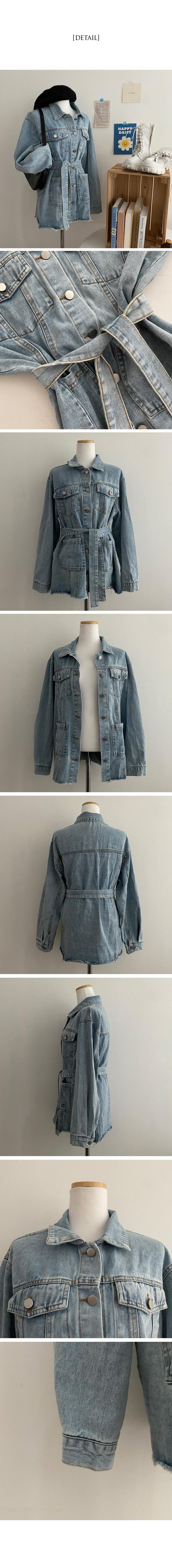 Decky Belted Denim Jacket