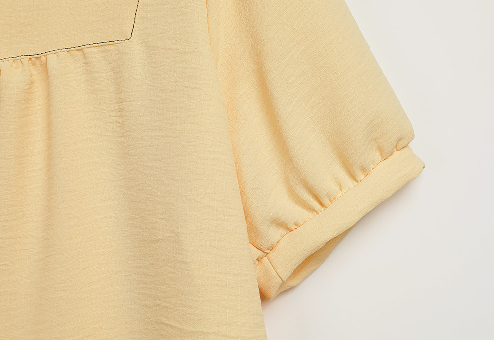 Rossi stitch square-neck blouse