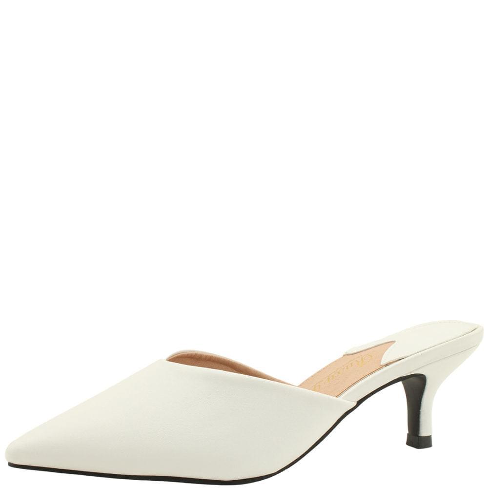 Stiletto High Heel Mules Slippers White