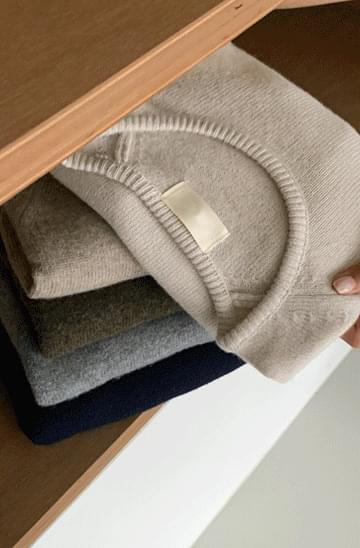 Mute Raglan Wool Short Sleeve Knitwear