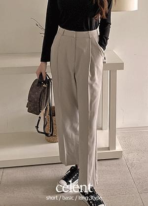 Celente pintuck wide slacks trousers