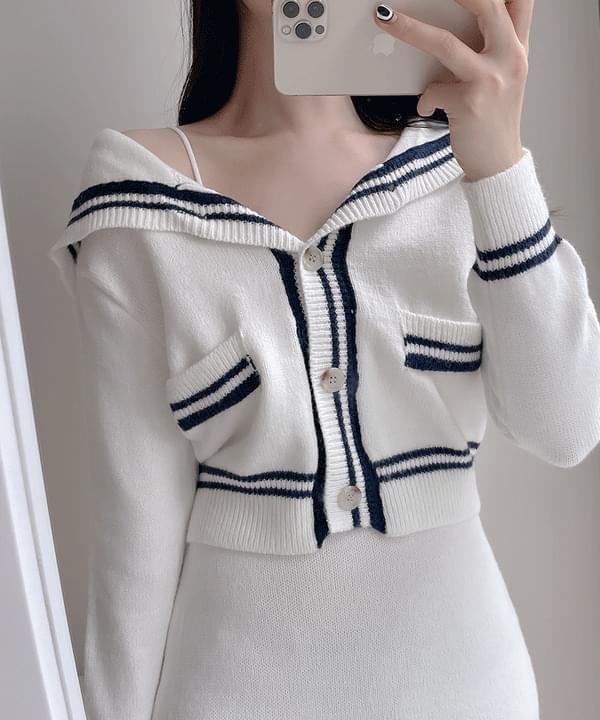 Joy Sailor Knitwear + Mini Skirt 2color
