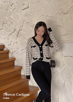 Tweed Tweed Pocket Knitwear Cardigan