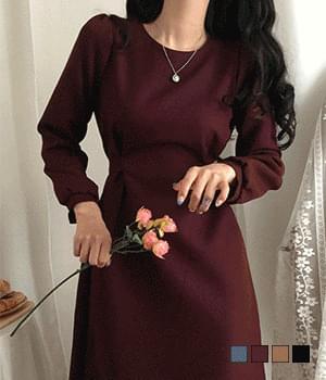 Dolce Latte Waist Strap Long Dress