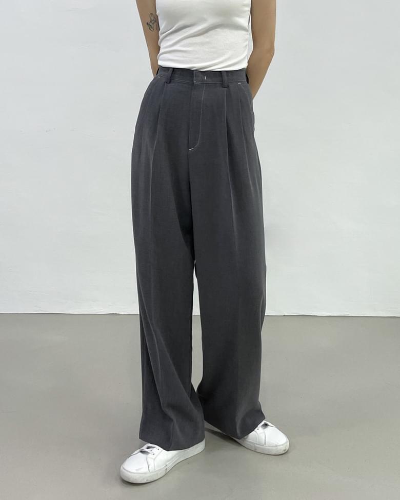 bian stitch long wide slacks