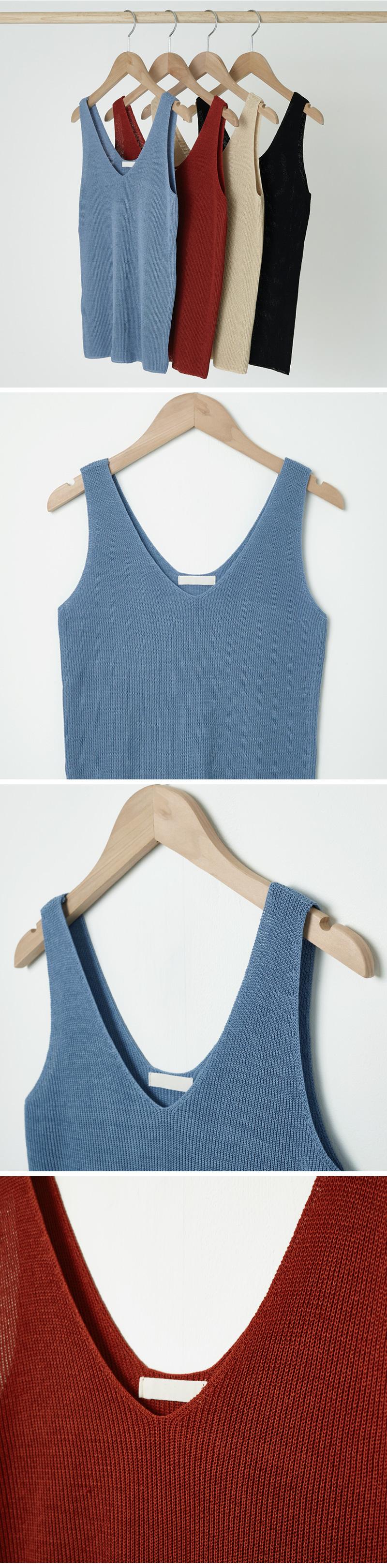 Cool V Neck Knitwear Sleeveless