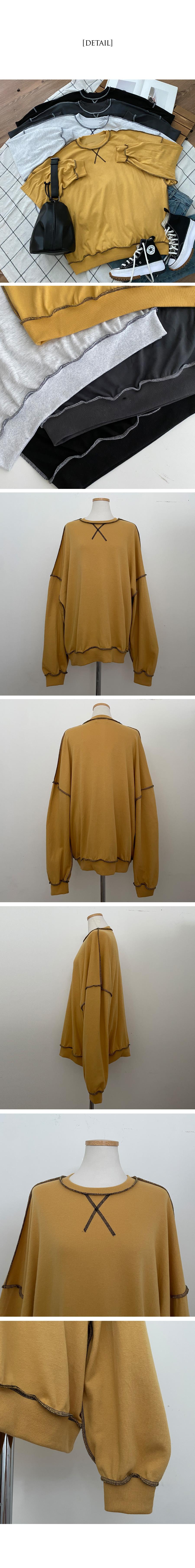 Duff color matching stitch overfit Sweatshirt
