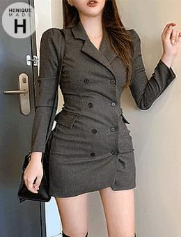 Breaking the ceiling of 155cm, shining even if I'm still short, high quality jacket mini Dress