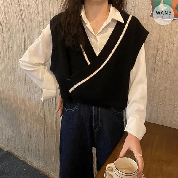 vt5815 Keria Wrap Knitwear Vest