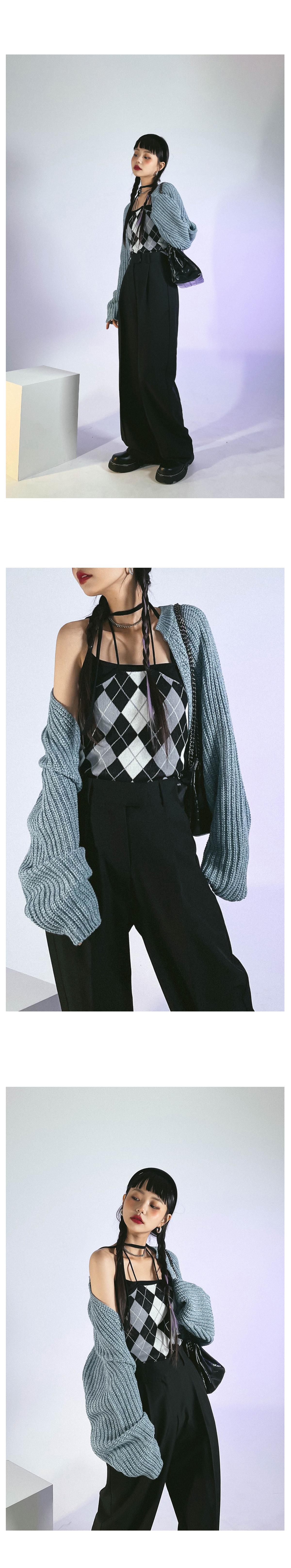 Argyle Quah Knitwear Bustier