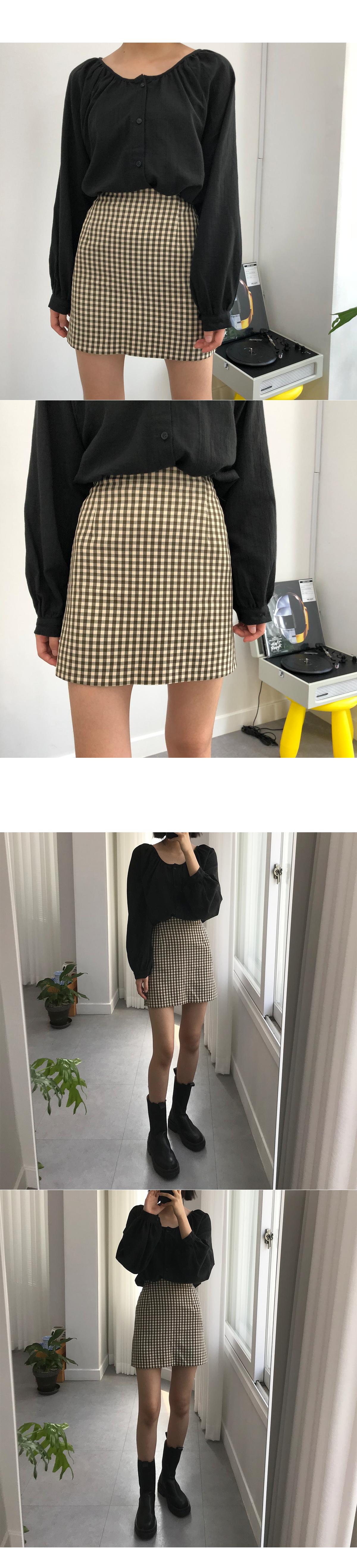 crunch check mini skirt