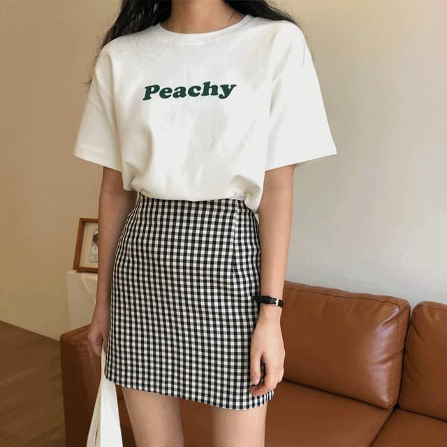 crunch check mini skirt 裙子