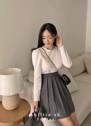 maltia two-piece pleated mini skirt