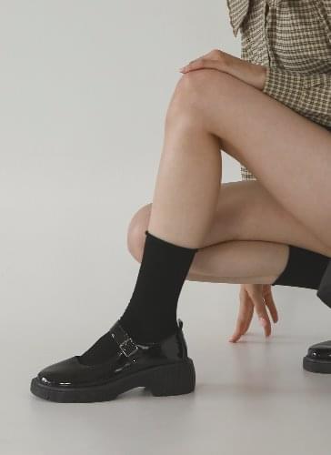 Darling Oversole Strap Whole Heel Loafers LFEMR3d203