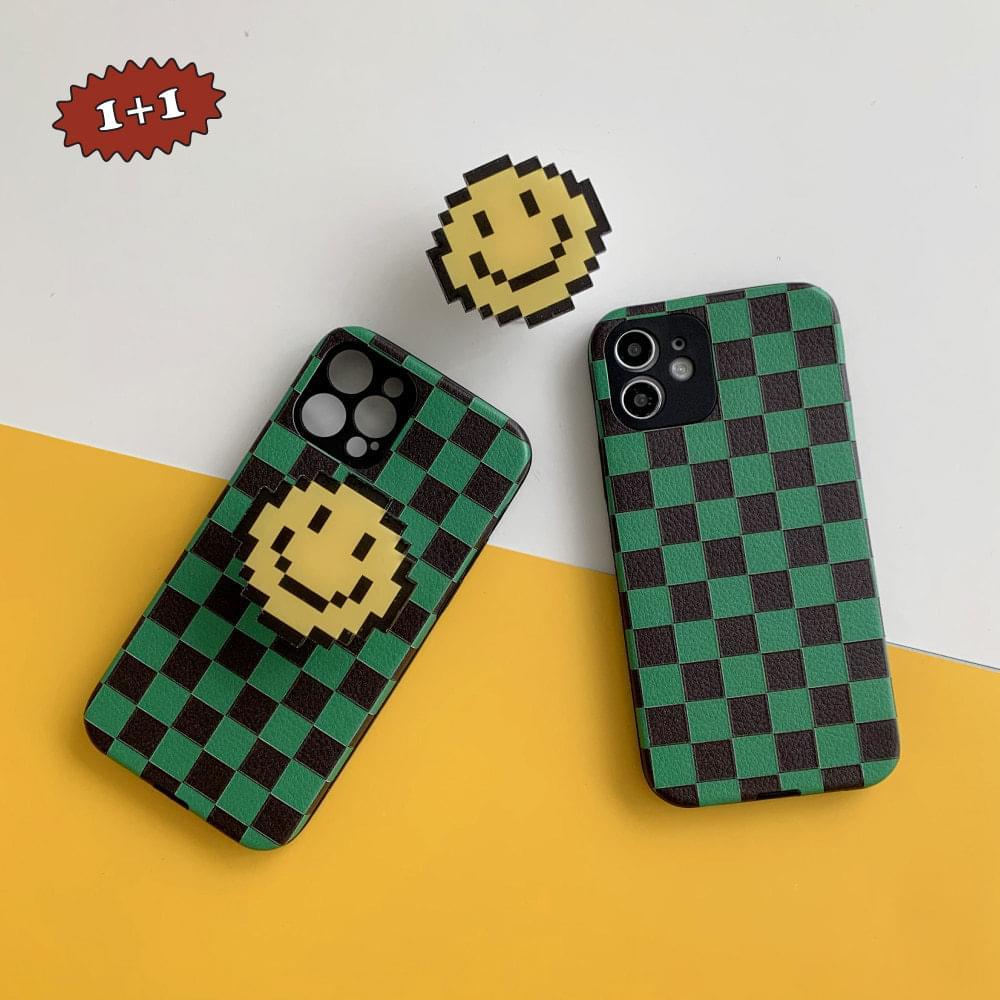 Graphic Smile Checkerboard iPhone Case