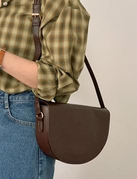 Quarter Moon Leather Shoulder Bag