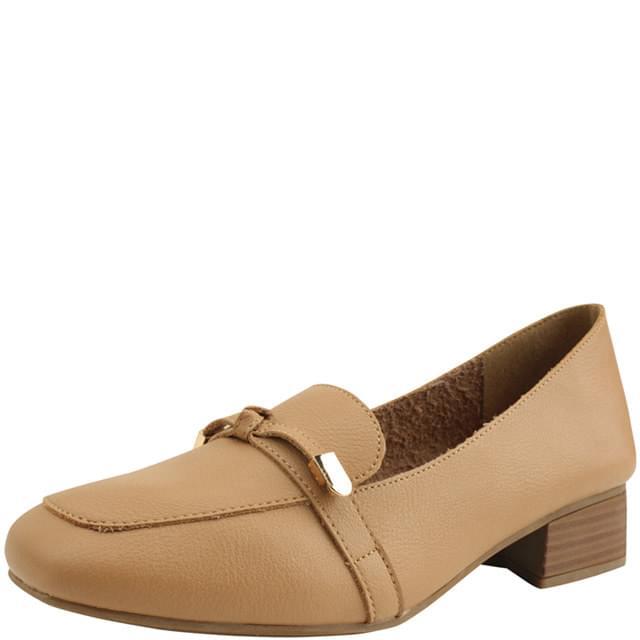 Ribbon Sumigoop Low Heel Loafers Pumps Beige