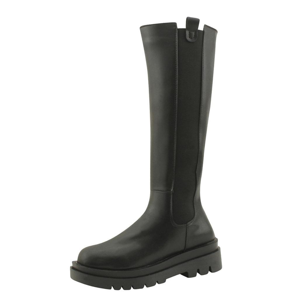 Banding Flat Platform Height Long Boots 5cm