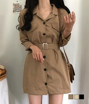 dual trench Dress
