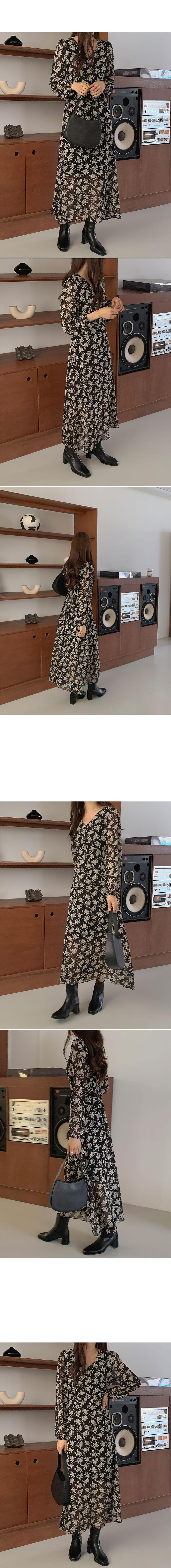 Joseph Chiffon Long Dress(black)