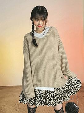 Wool Flare V-Neck Knitwear