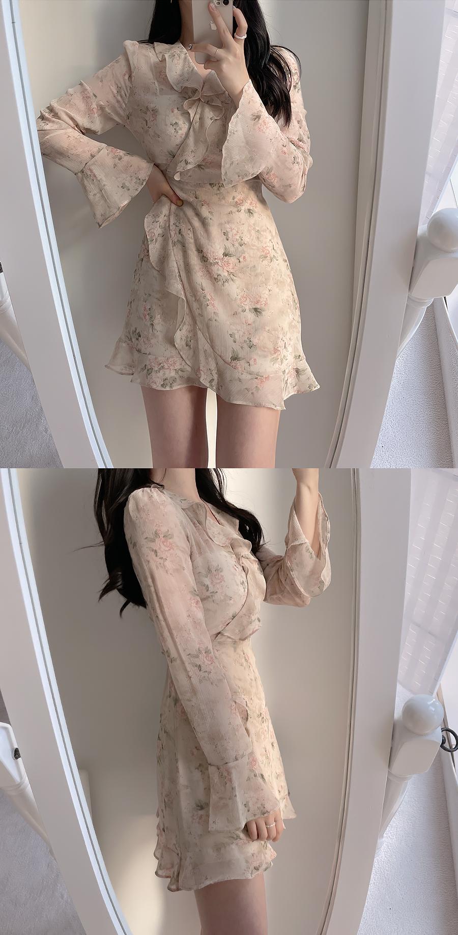 Blush Flower Dress 3color
